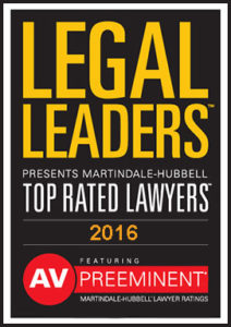 "Martindale Hubbell's Top Rated ""Legal Leaders"" with Highest AV Rating"