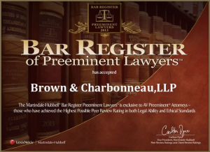 We Are On The Bar Register Of Preeminent Lawyers