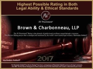 Highest Possible AV Preeminent Legal Rating