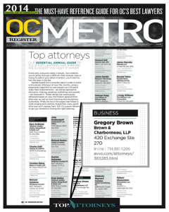 Shouldn't Your Lawyer Be One Of The Top Attorneys In Orange County?