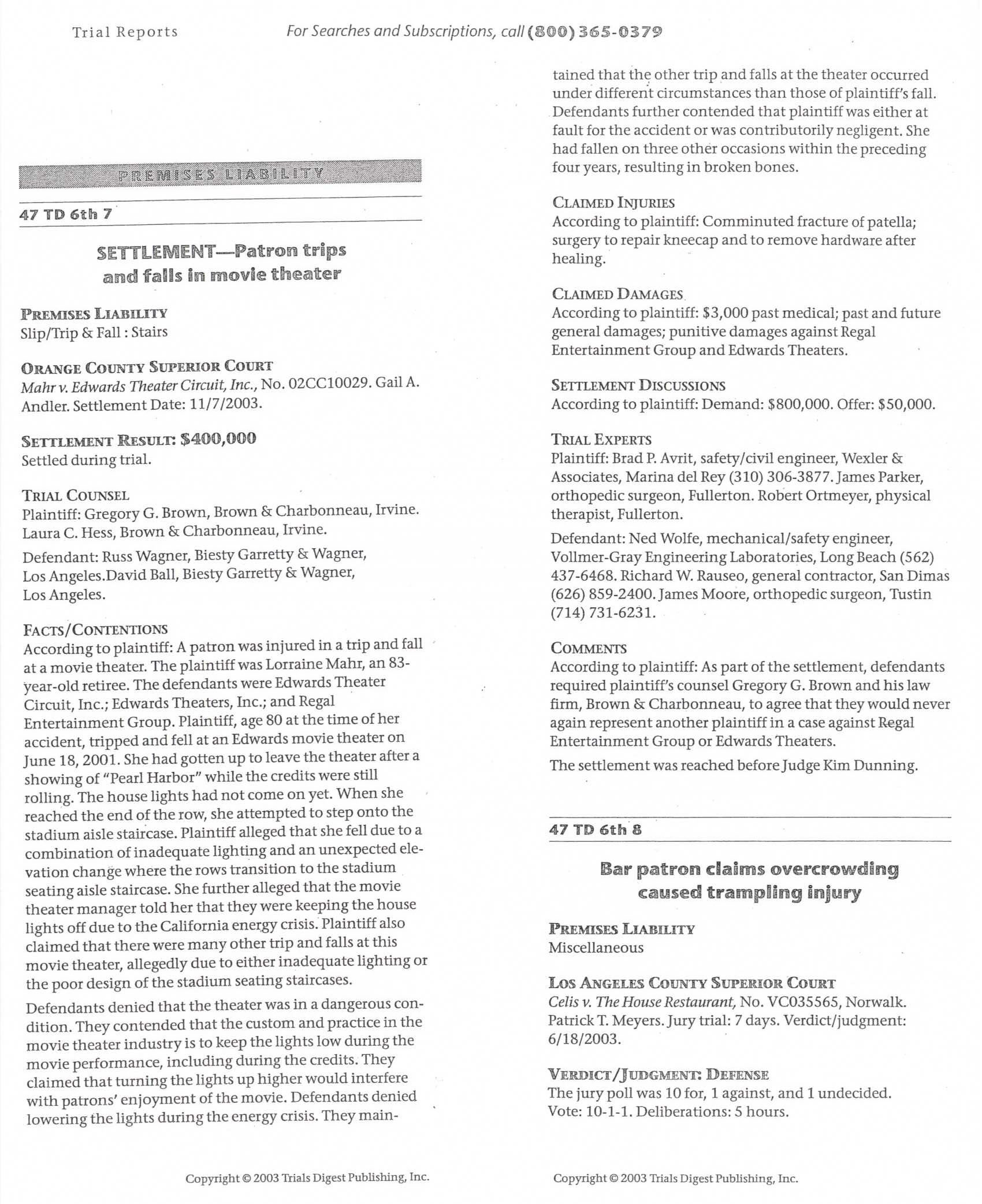resume Regal Resumes case results business litigation trial attorneys in irvine the