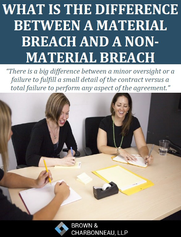 Free Report: What is the Difference Between a Material Breach and a Non-Material Breach (Contract)