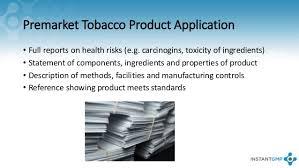 Upcoming FDA Pre-Market Tobacco Application Deadlines