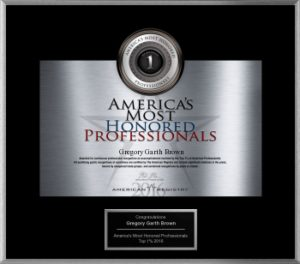 America's Most Honored Professionals - Gregory G. Brown