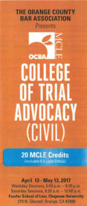 Trial Attorney Gregory G. Brown Will Again Be Guest Speaker/Teacher at College of Trial Advocay